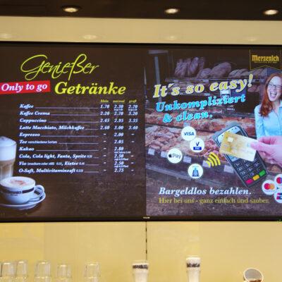 CoffeeBoard Bilschrimwerbung Bäckerei Merzenich
